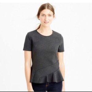 J. Crew peplum shirt Small NWOT